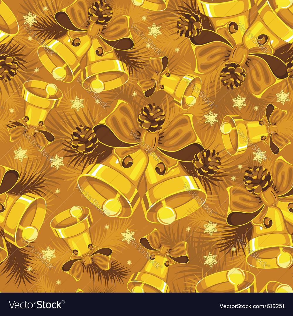 Christmas bells seamless vector | Price: 1 Credit (USD $1)