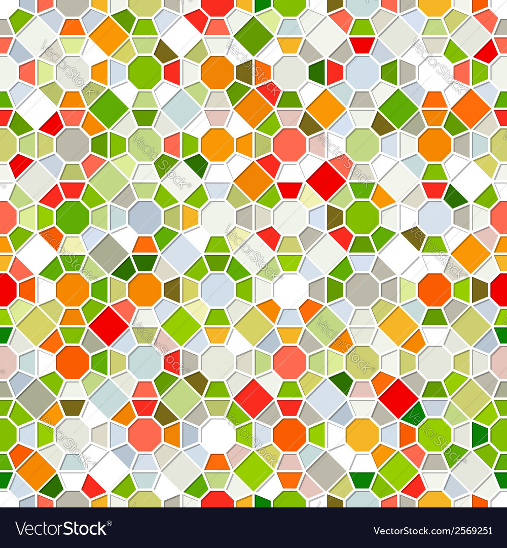 Colorful seamless mosaic pattern vector | Price: 1 Credit (USD $1)