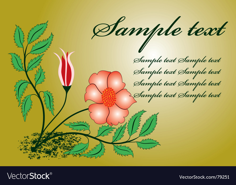 Floral template vector | Price: 1 Credit (USD $1)