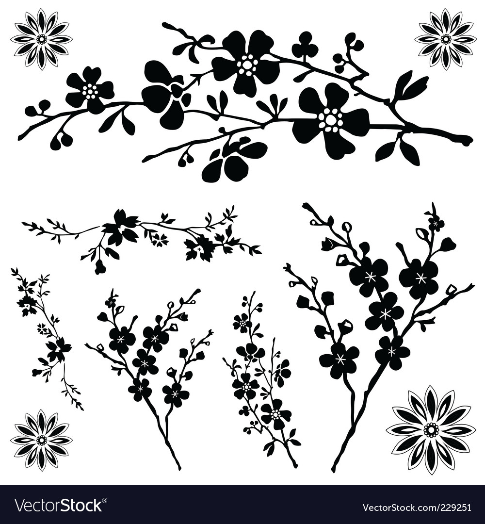 Flower ornaments vector | Price: 1 Credit (USD $1)