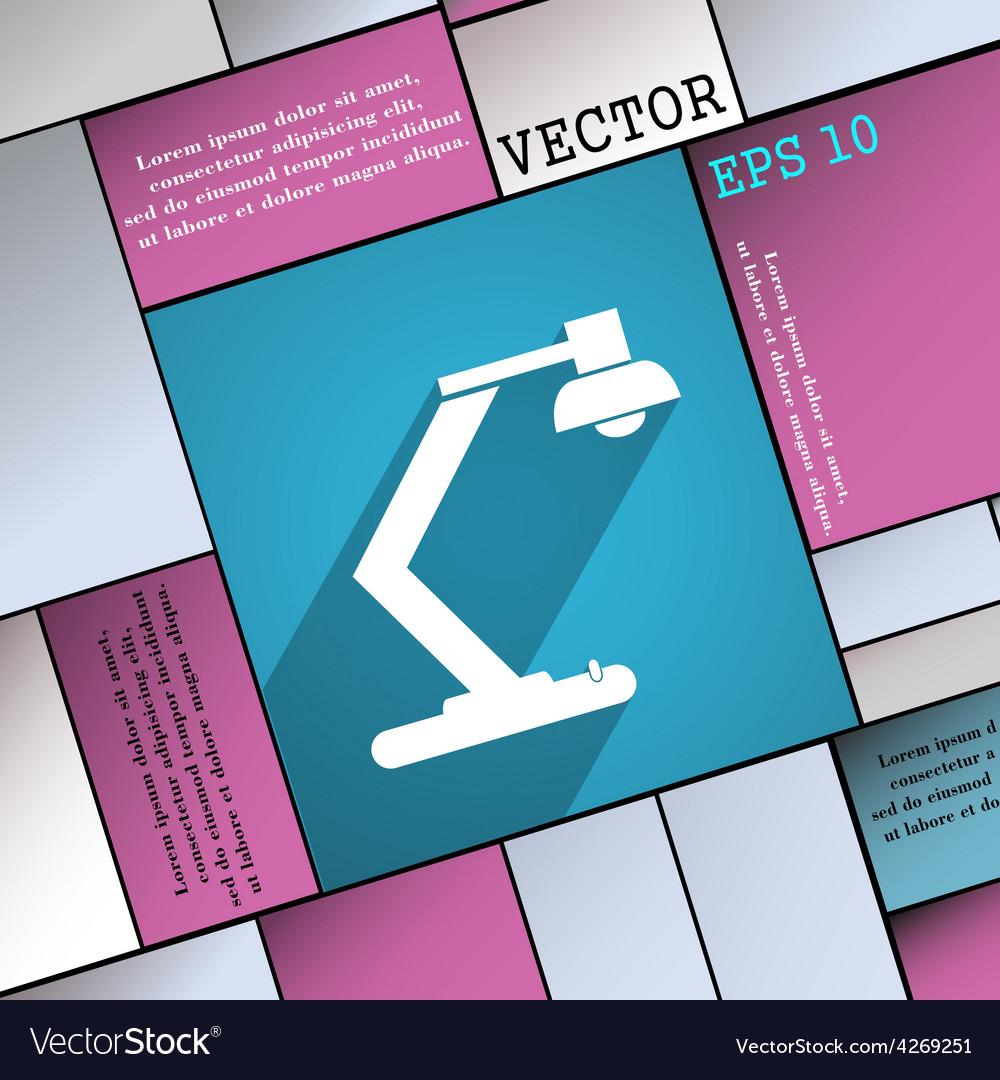 Light bulb electricity icon symbol flat modern web vector | Price: 1 Credit (USD $1)