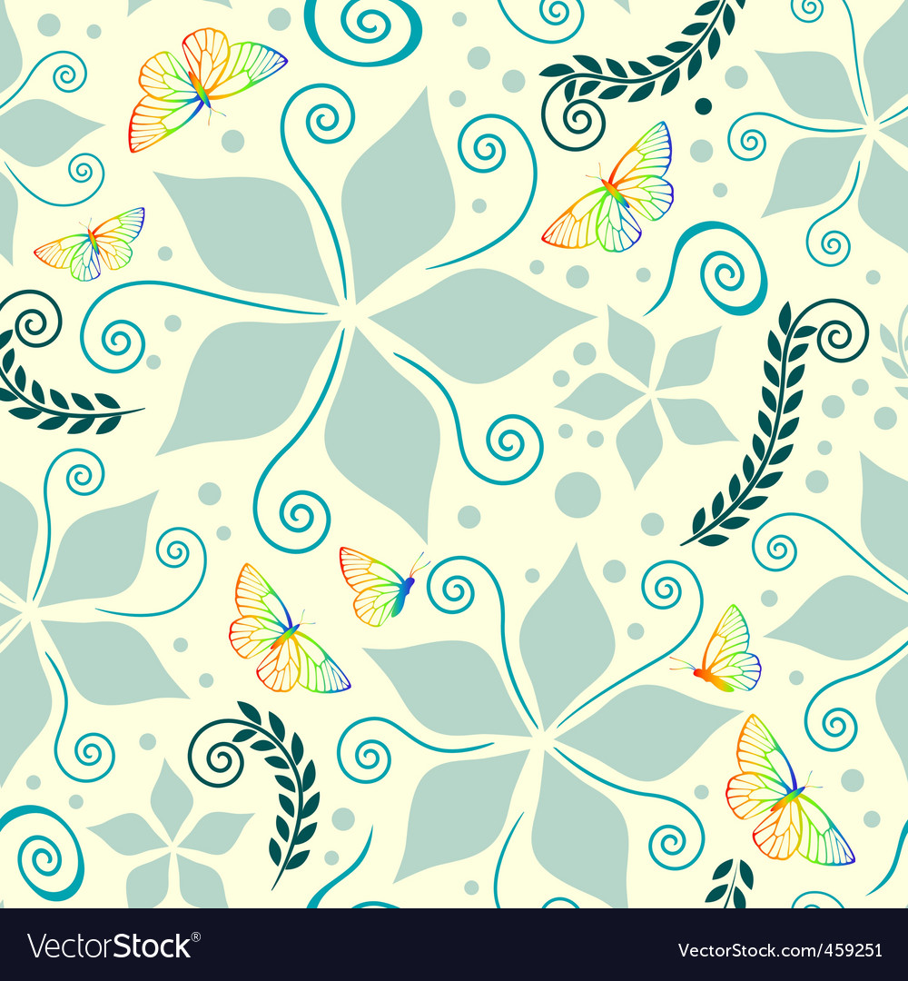 Nature pattern on vanilla background vector | Price: 1 Credit (USD $1)