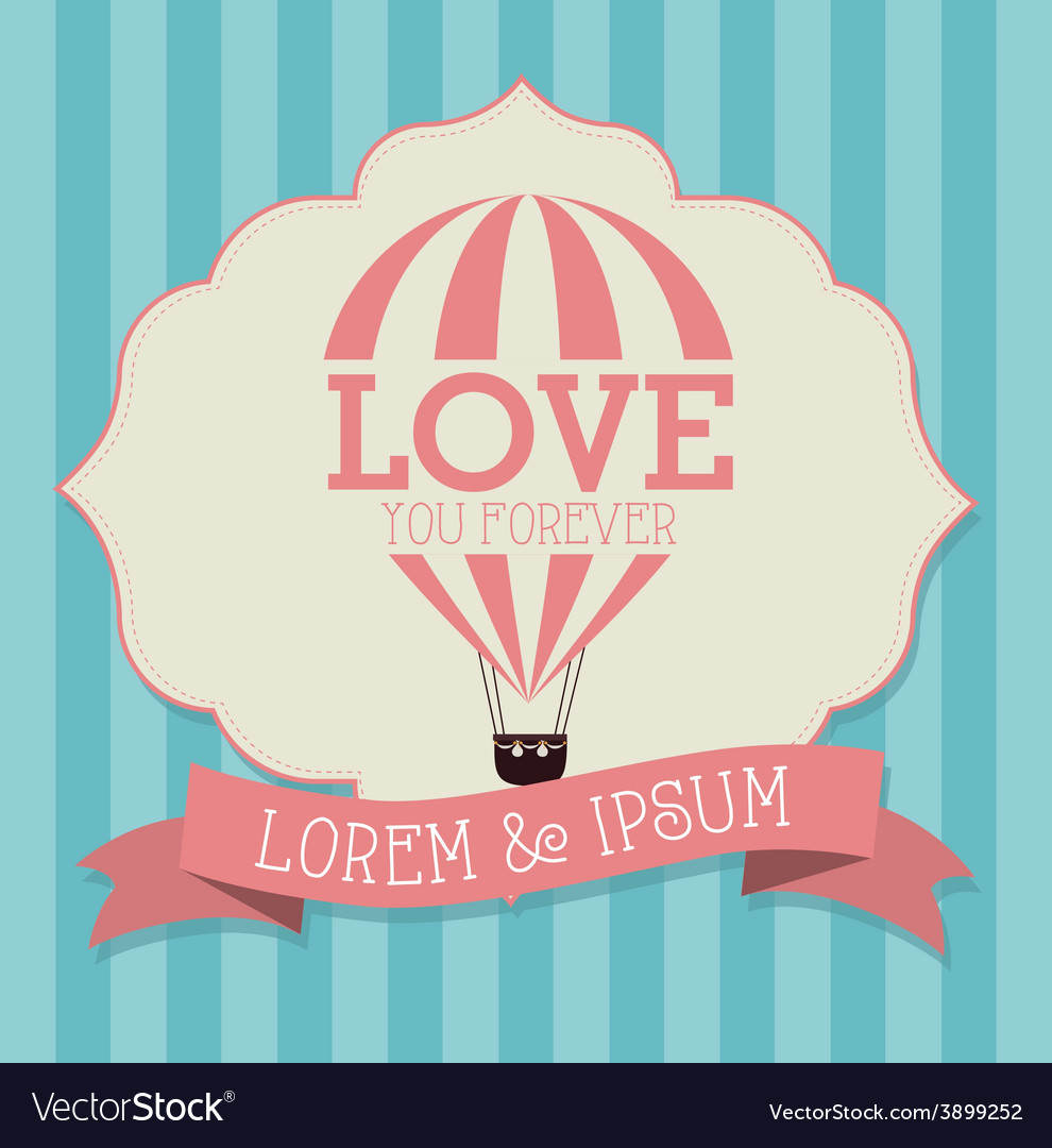 Air balloon over white background vector | Price: 1 Credit (USD $1)