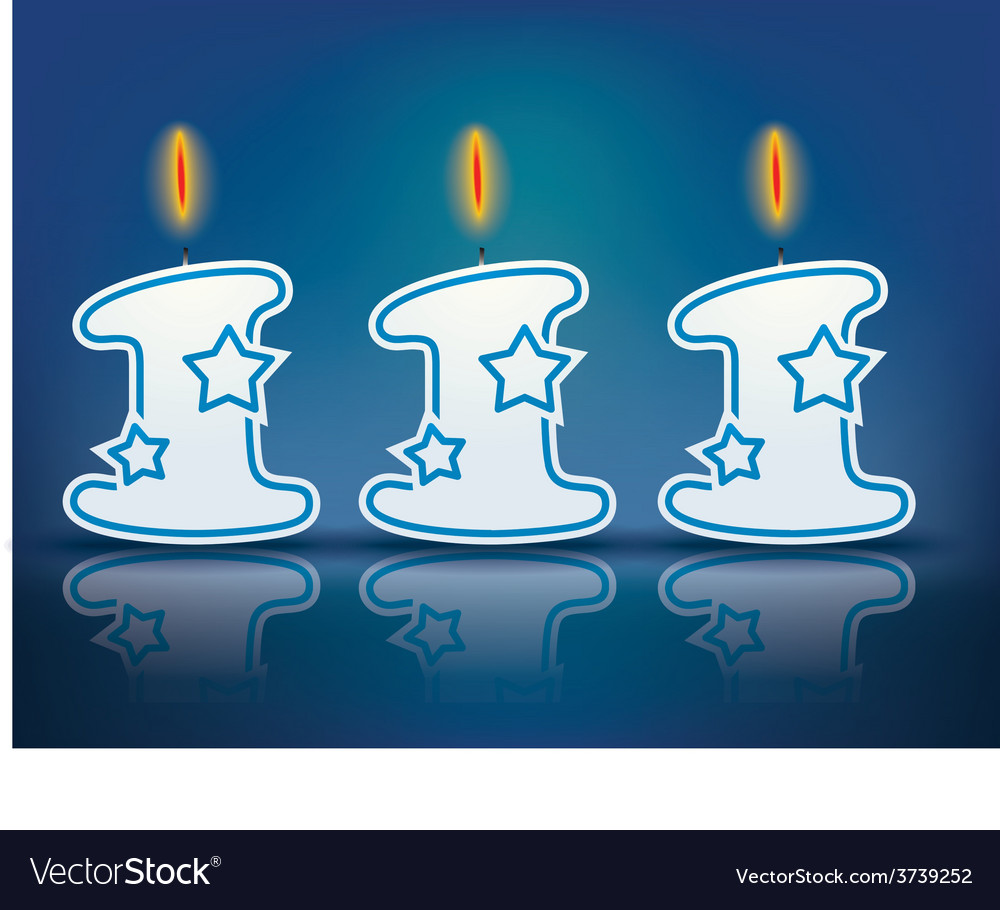 Birthday candle number 111 vector | Price: 1 Credit (USD $1)