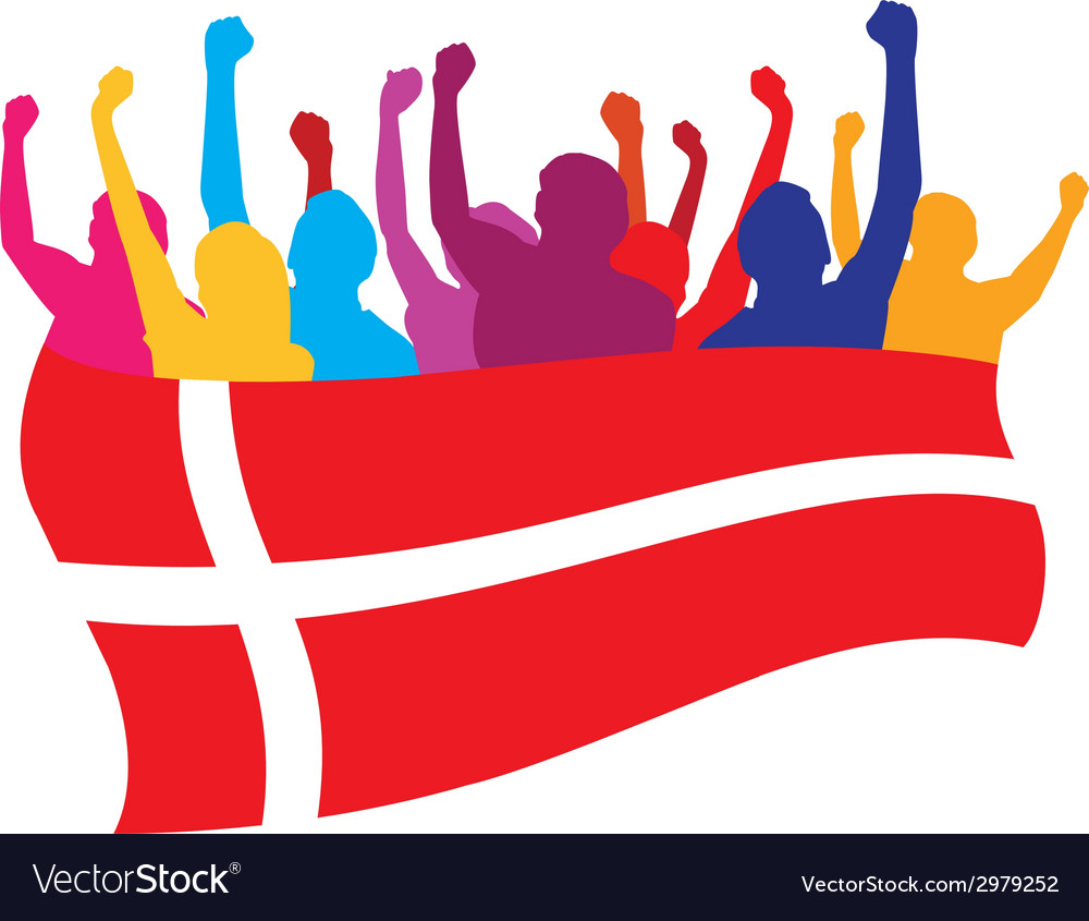 Denmark fans vector   Price: 1 Credit (USD $1)