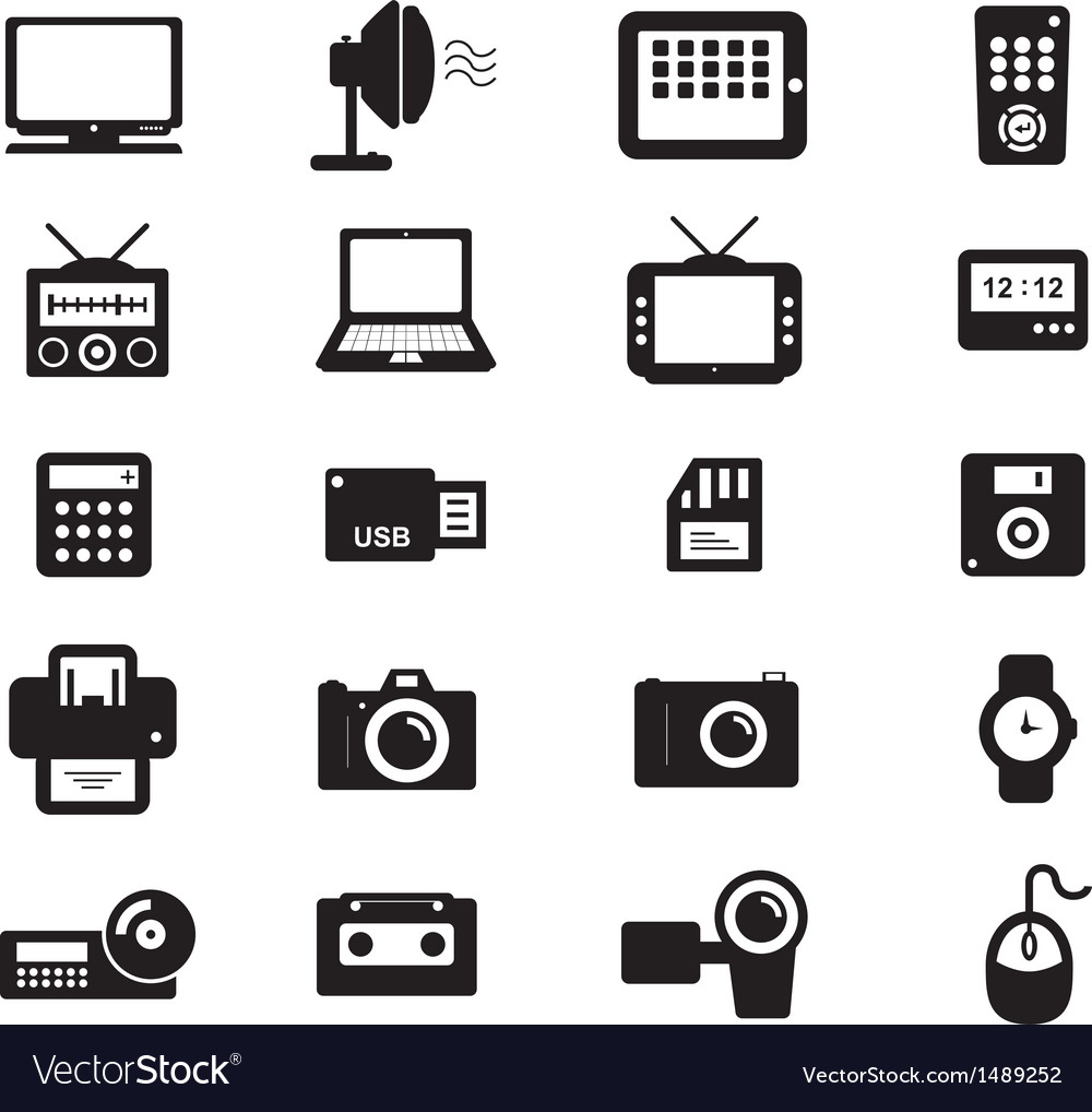 Electronic and accessories icon vector | Price: 1 Credit (USD $1)