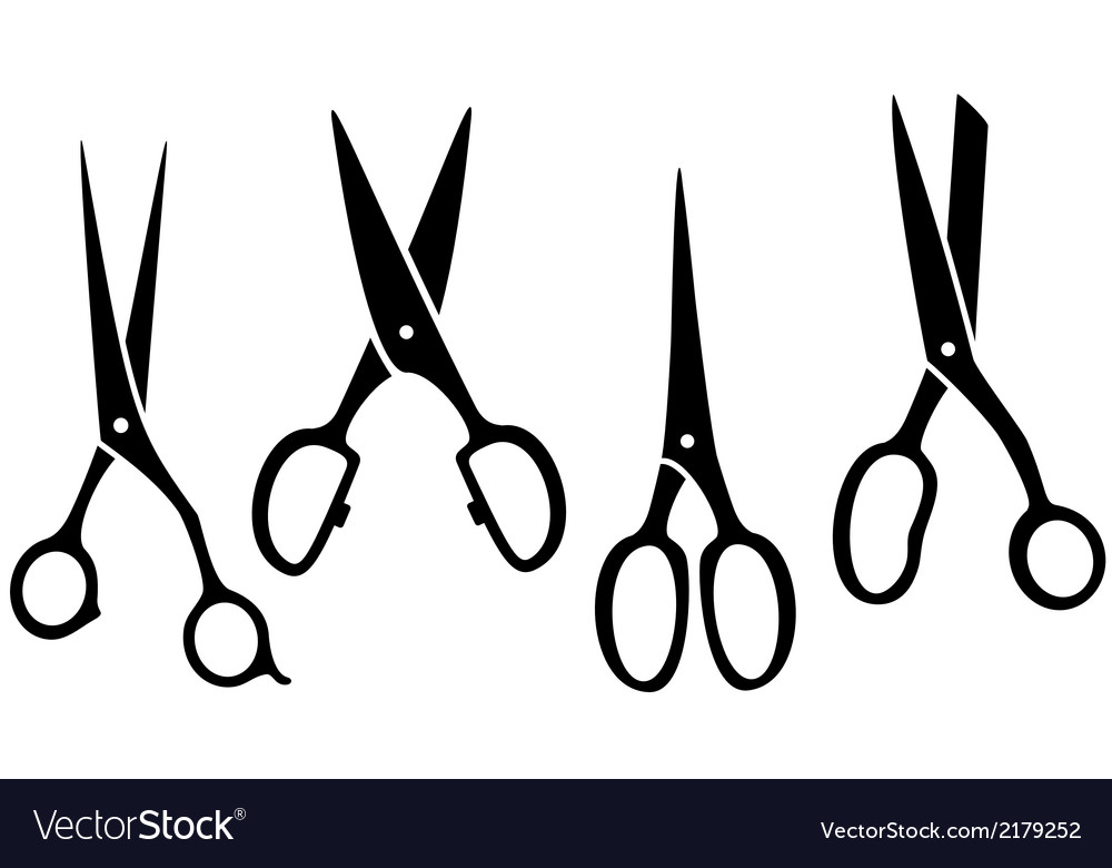 Isolated scissors set vector | Price: 1 Credit (USD $1)