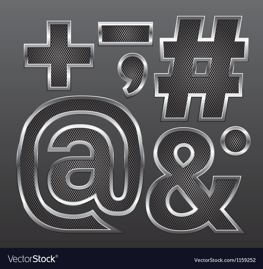Metal letters big and small 12 vector | Price: 1 Credit (USD $1)