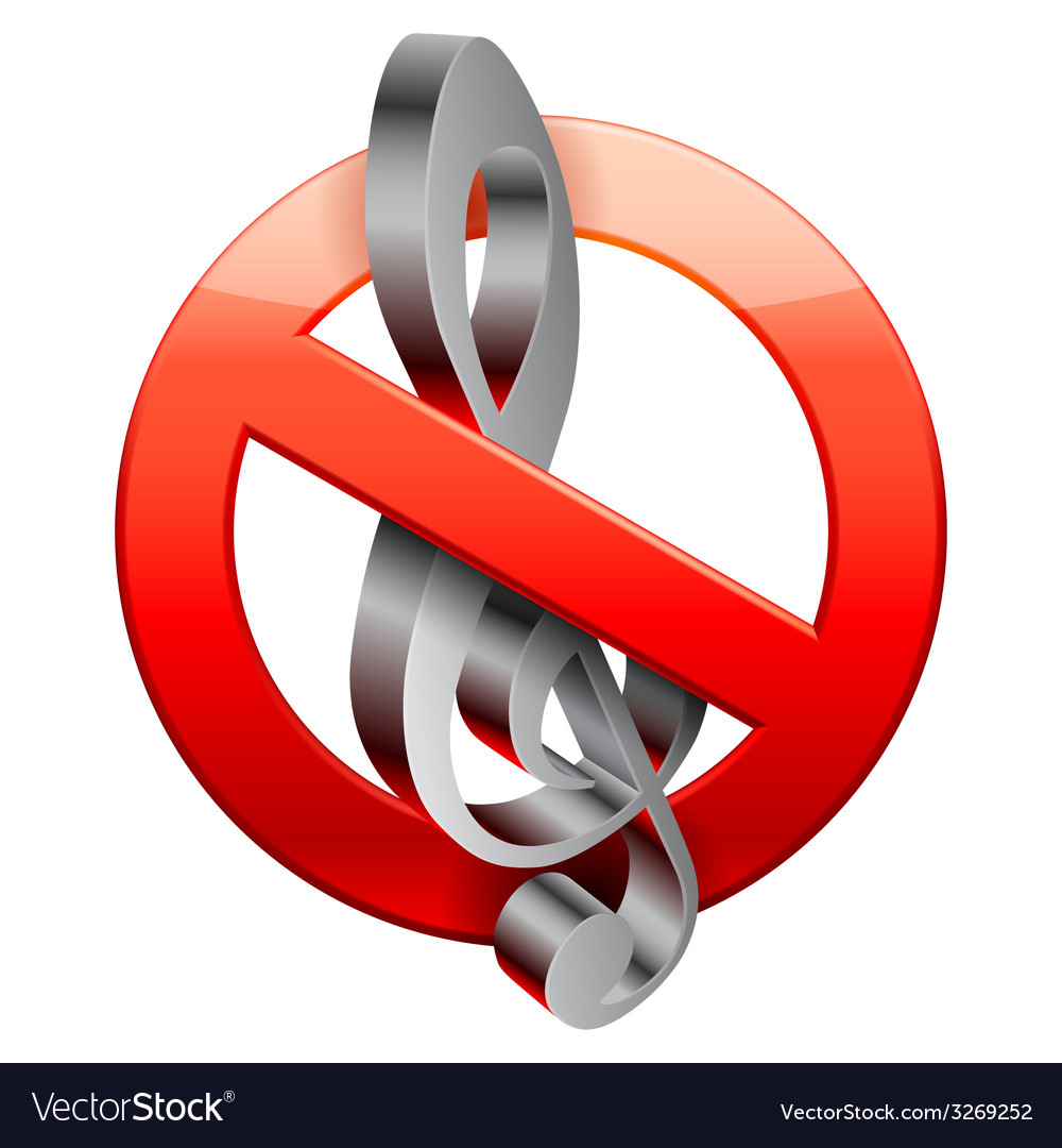 No music sign vector | Price: 1 Credit (USD $1)
