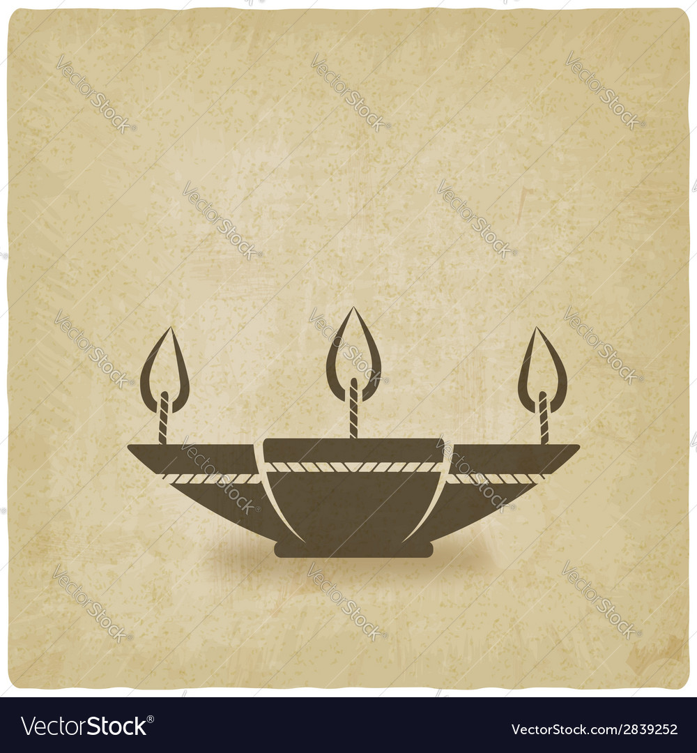 Oil lamp old background vector | Price: 1 Credit (USD $1)