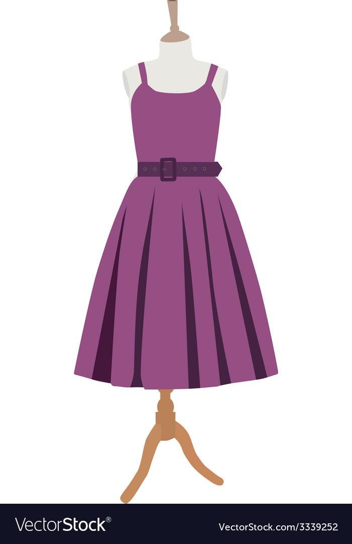 Purple dress vector | Price: 1 Credit (USD $1)