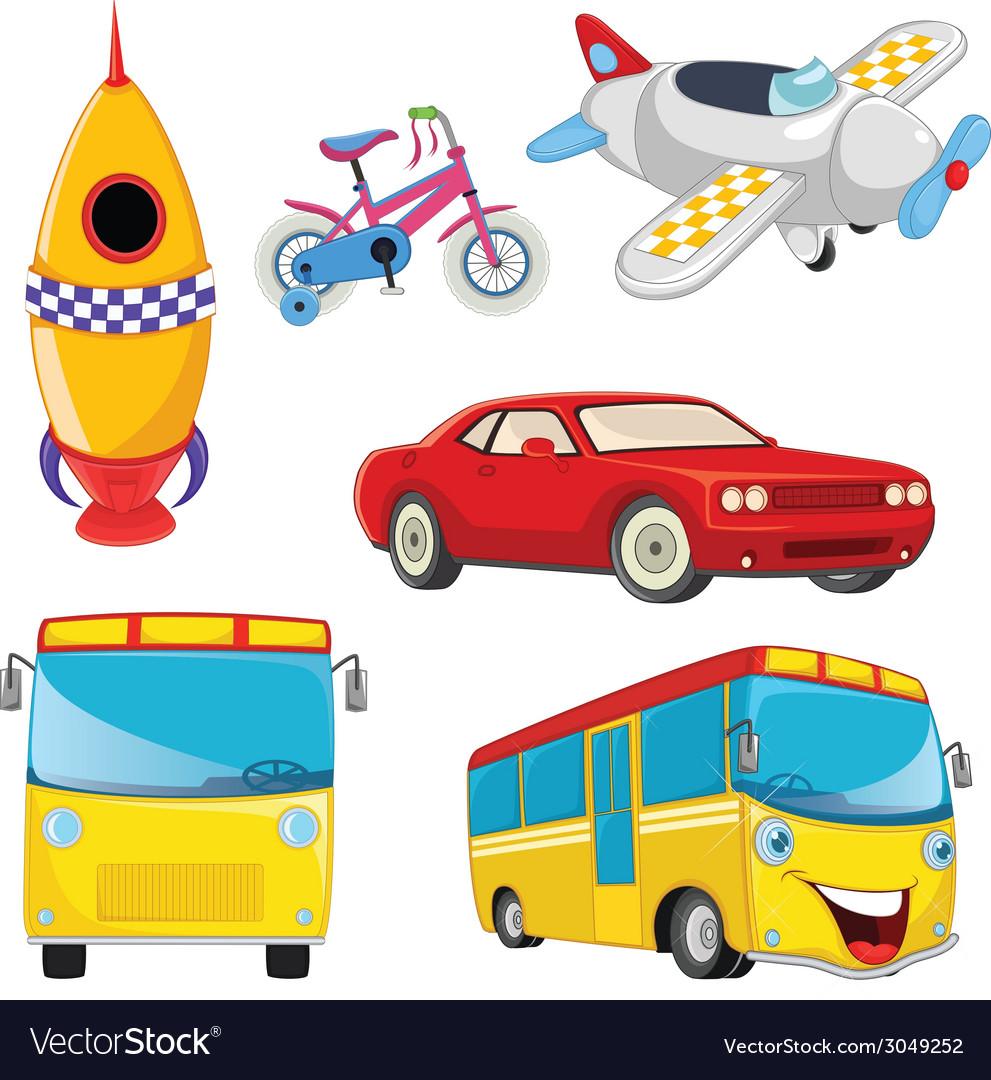 Vehicles set vector | Price: 1 Credit (USD $1)