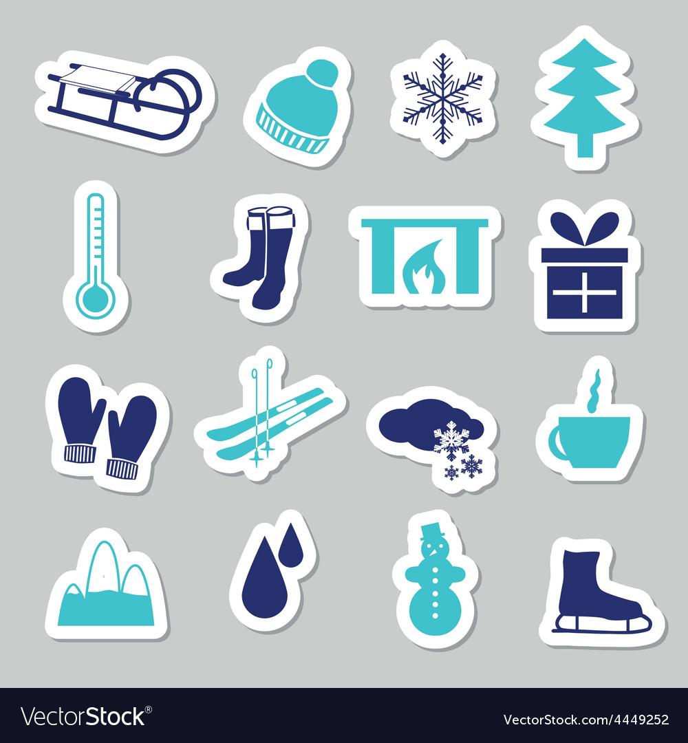 Winter stickers vector | Price: 1 Credit (USD $1)