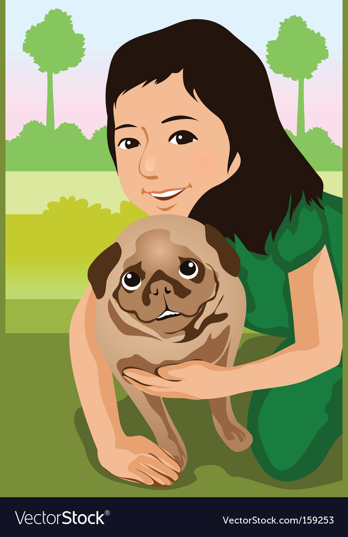 Animal and owner vector | Price: 1 Credit (USD $1)