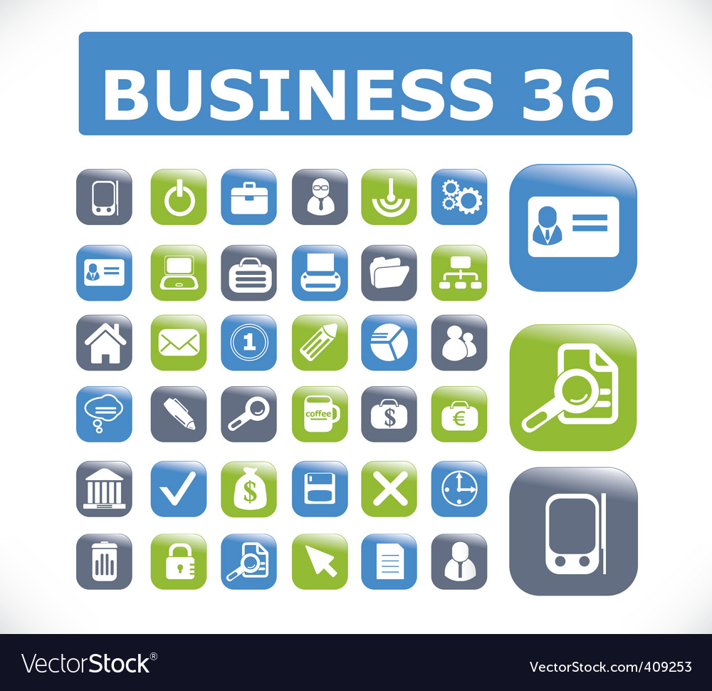 Business presentation buttons vector | Price: 1 Credit (USD $1)