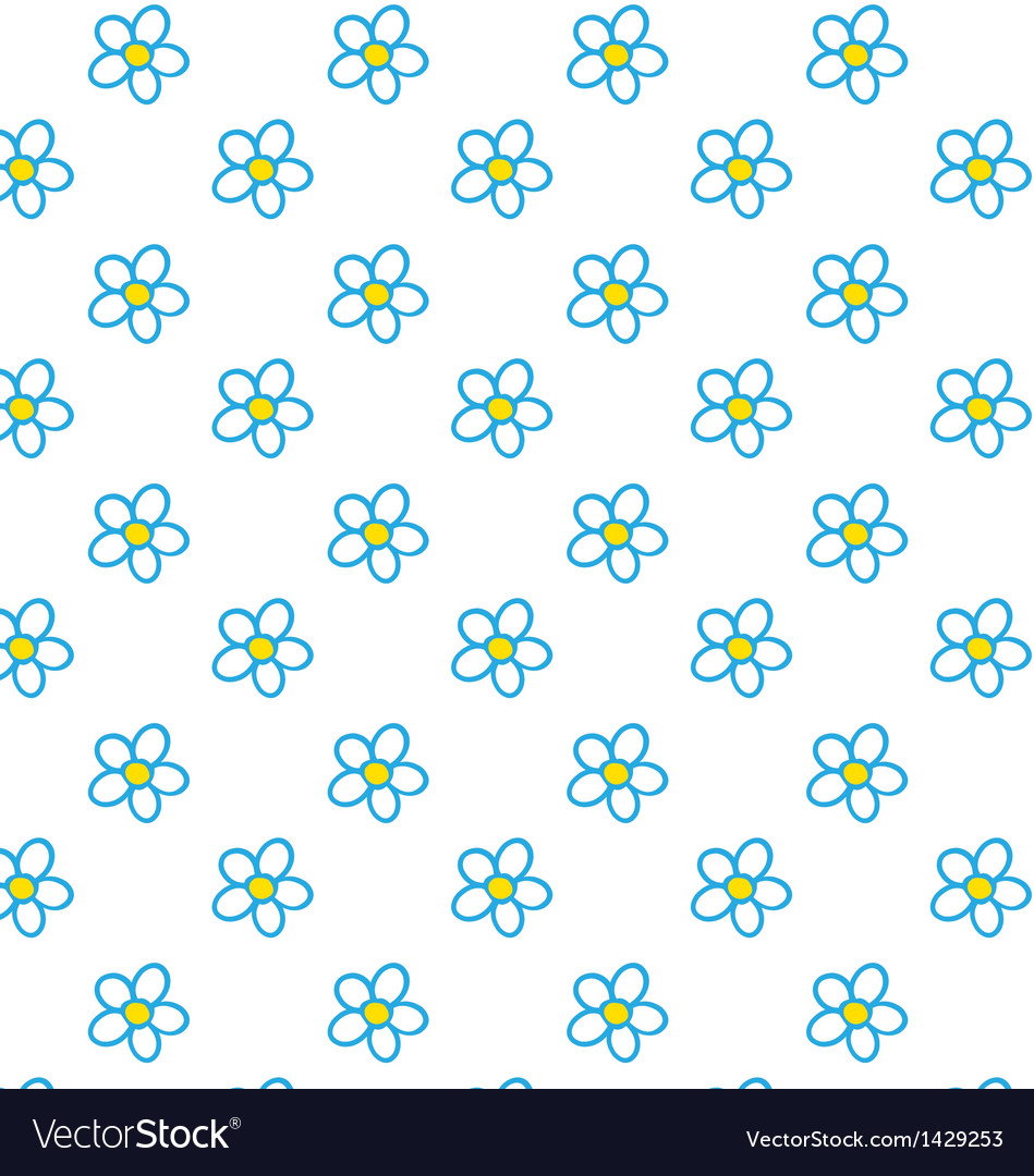 Chamomile pattern vector | Price: 1 Credit (USD $1)