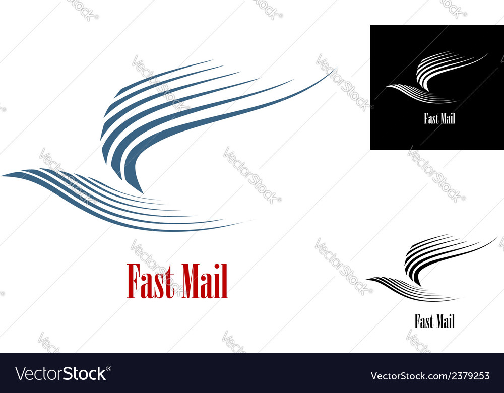 Fast mail symbol vector | Price: 1 Credit (USD $1)