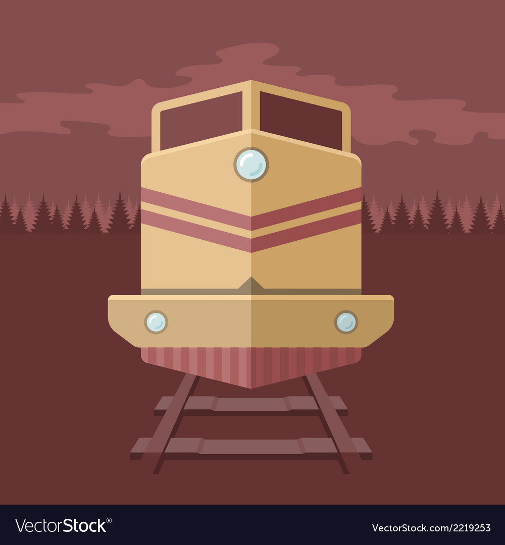 Flat train vector | Price: 1 Credit (USD $1)