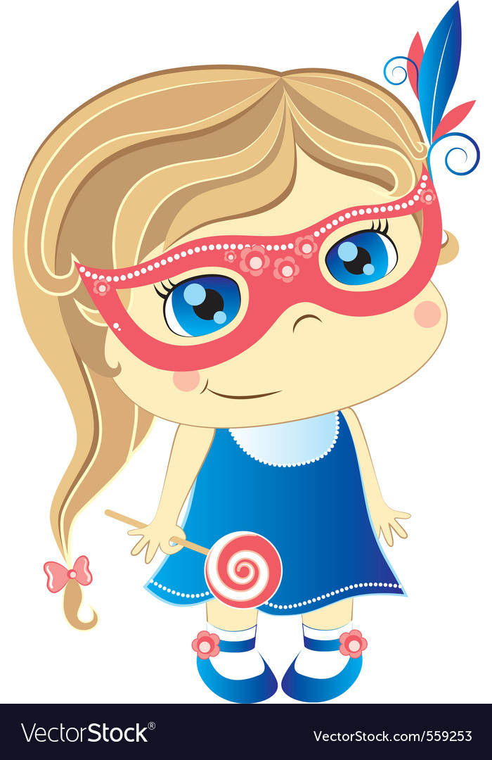 Girl in mask vector | Price: 3 Credit (USD $3)