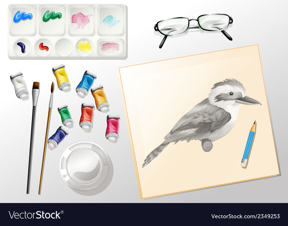 Materials used when painting vector | Price: 1 Credit (USD $1)