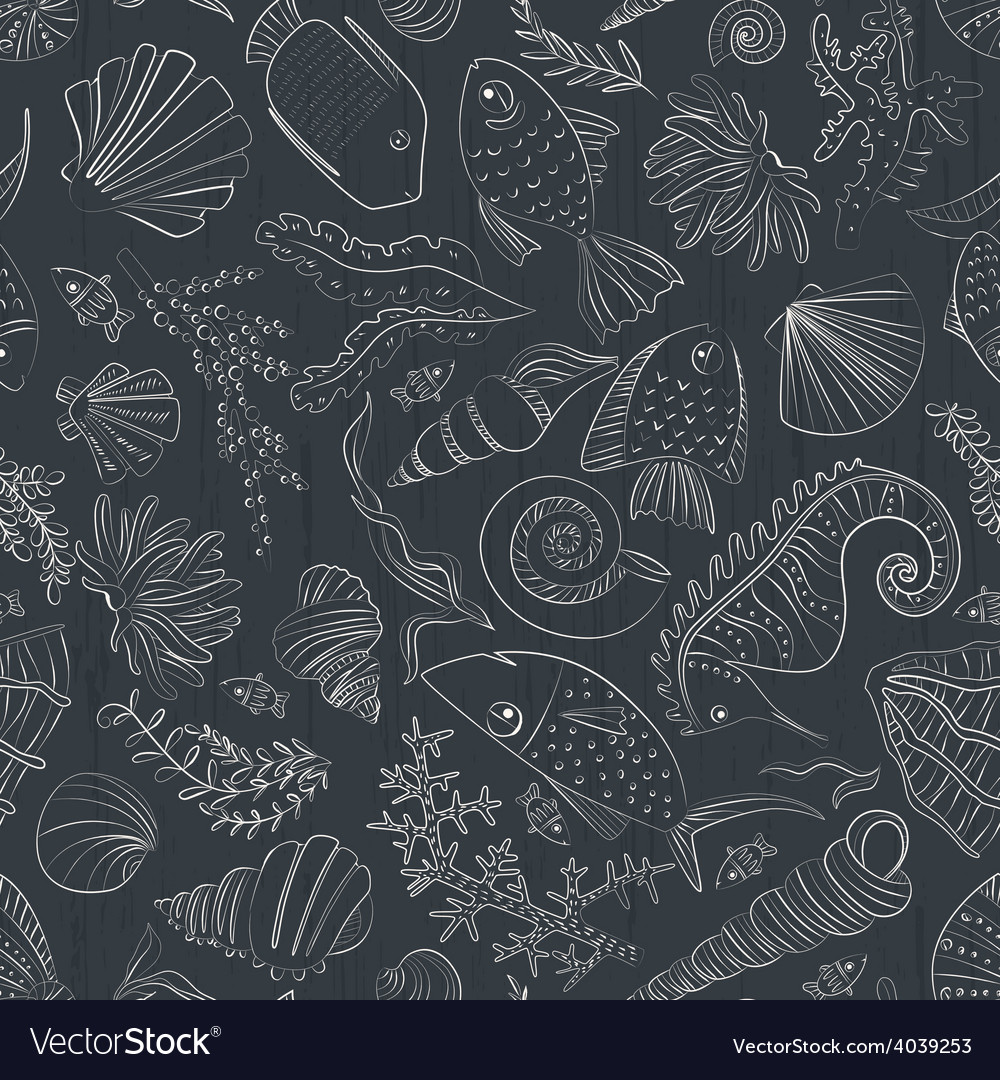 Ocean pattern vector | Price: 1 Credit (USD $1)