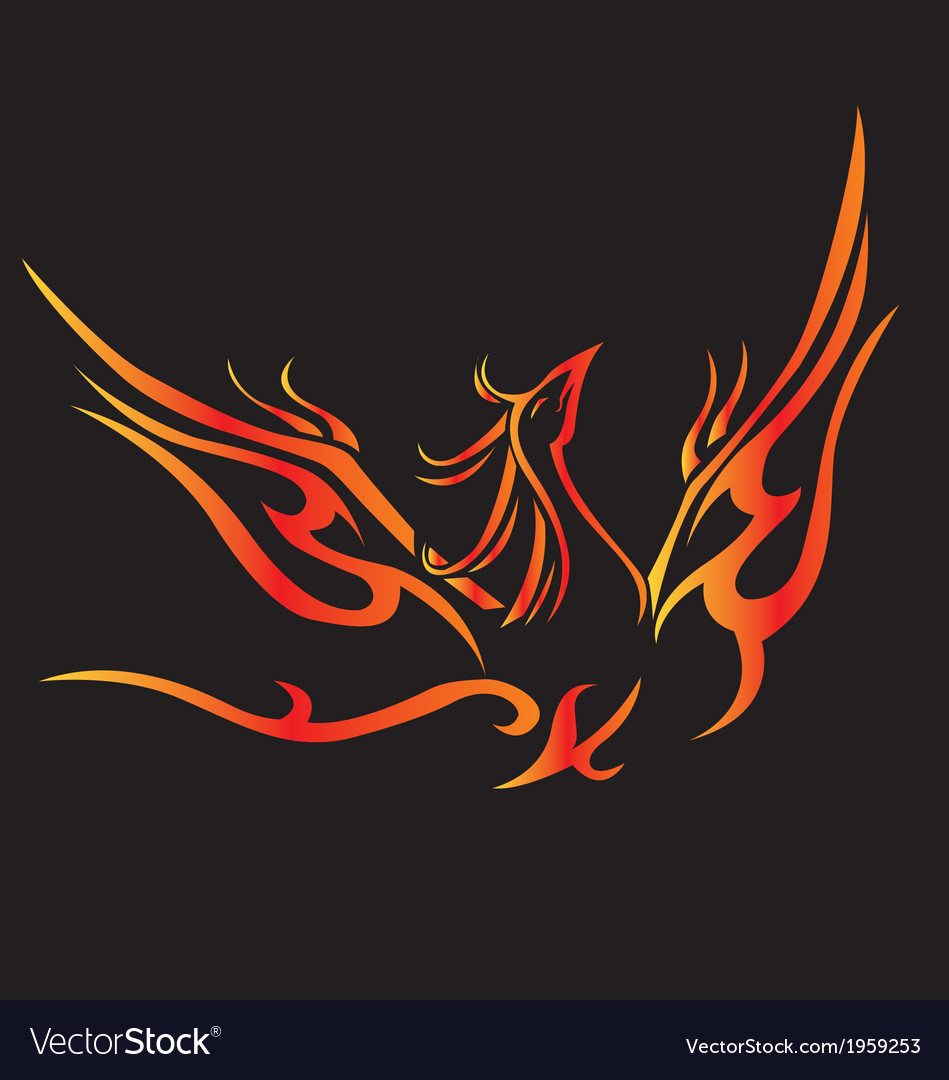 Phoenix fly tatoo vector | Price: 1 Credit (USD $1)