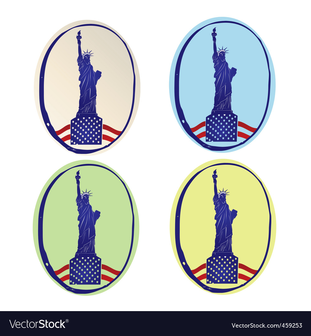 Statue of liberty icons vector | Price: 1 Credit (USD $1)