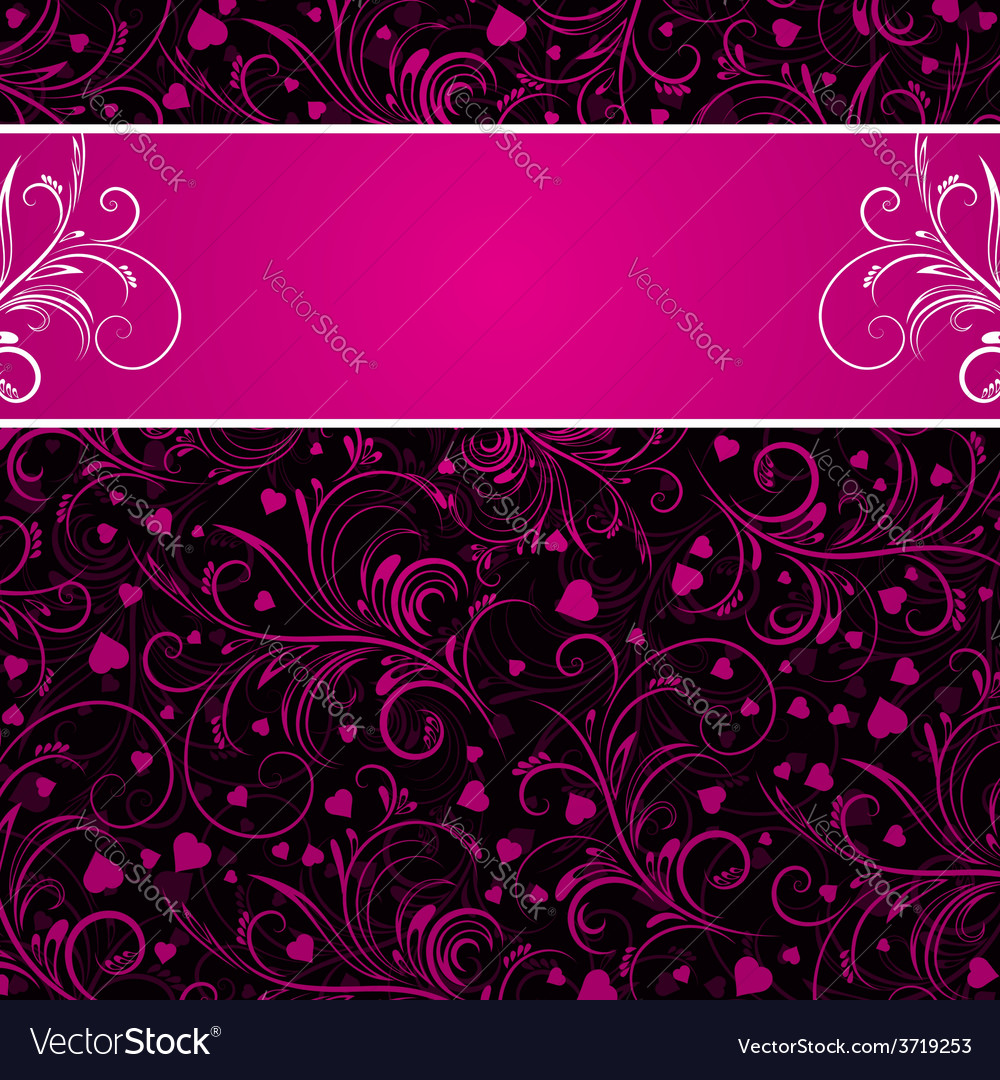 Valentines background with decorative ornaments vector | Price: 1 Credit (USD $1)