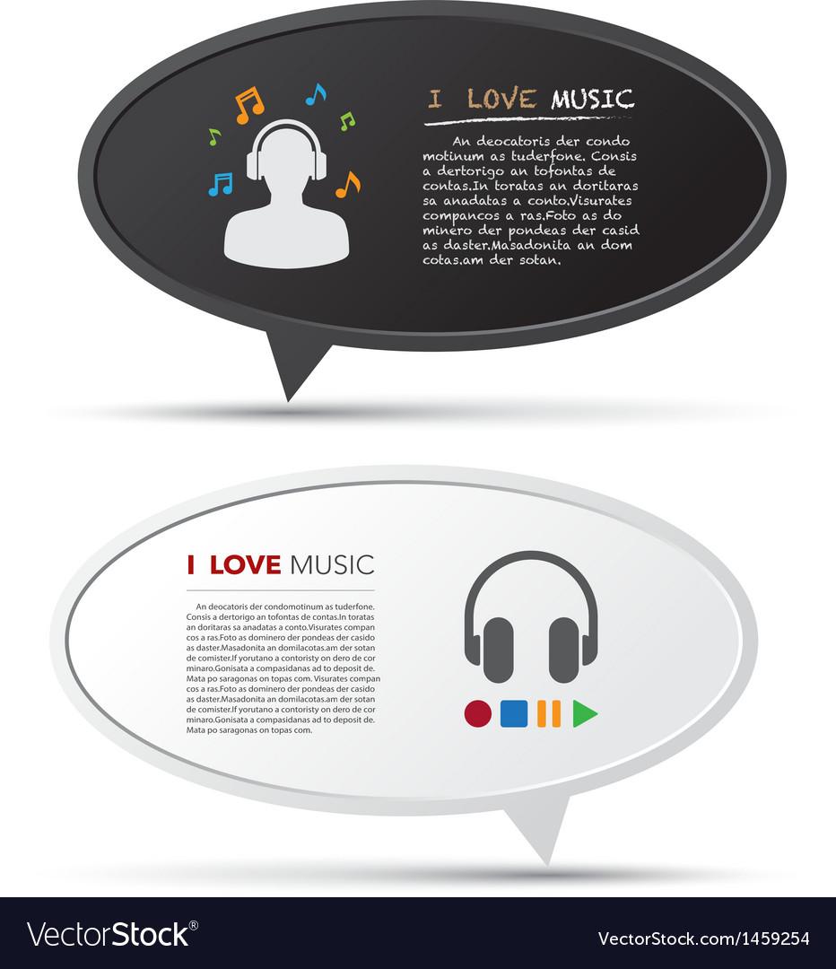 3d bubble talk blackboard design element eps10 vector | Price: 1 Credit (USD $1)