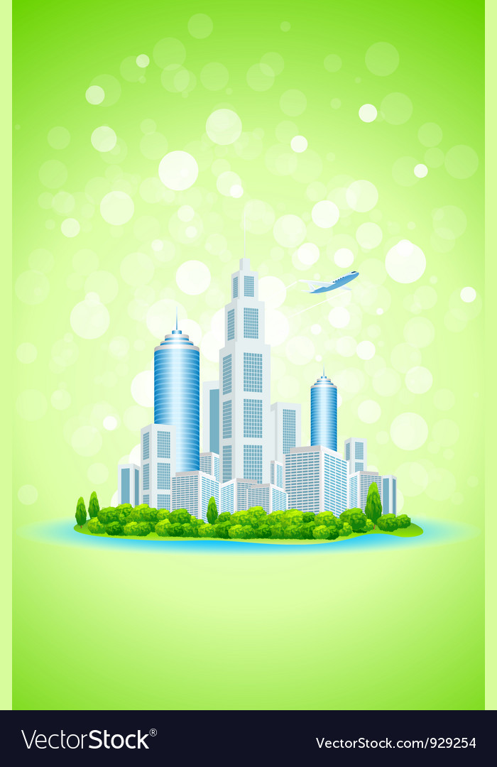 Business city island vector | Price: 3 Credit (USD $3)