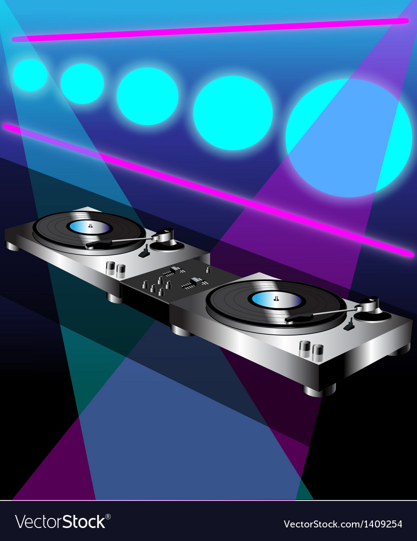 Dj turntable vector | Price: 1 Credit (USD $1)