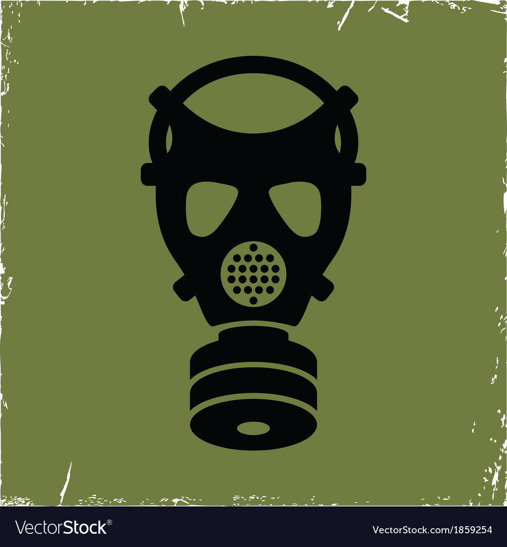 Gas mask on old background with effect of vector | Price: 1 Credit (USD $1)