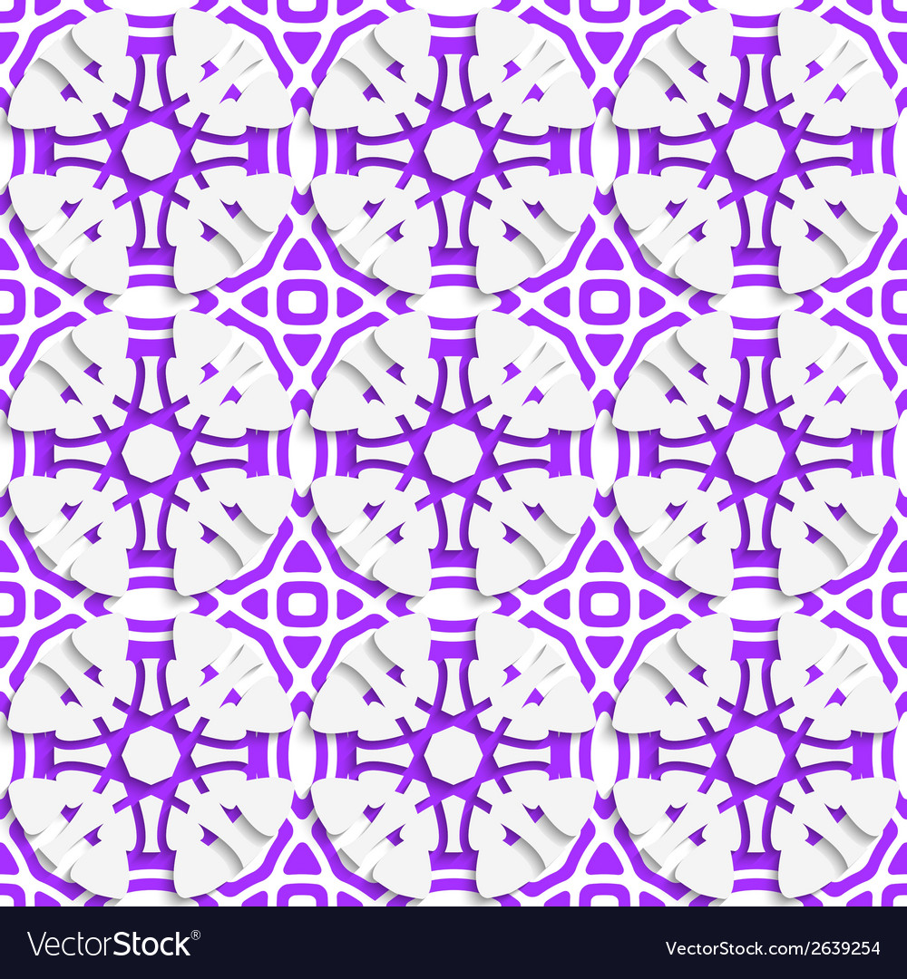Geometric ornament with violet seamless vector | Price: 1 Credit (USD $1)