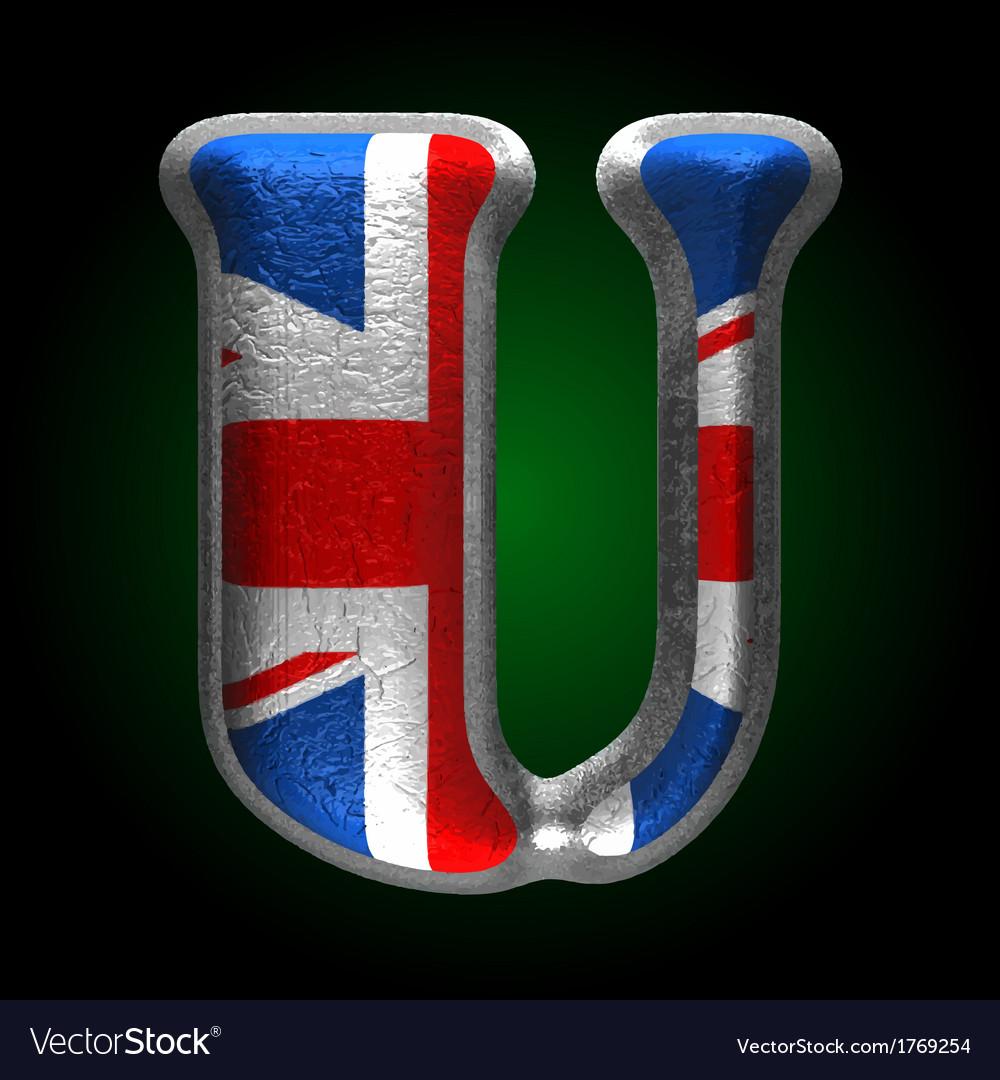 Great britain metal figure u vector | Price: 1 Credit (USD $1)