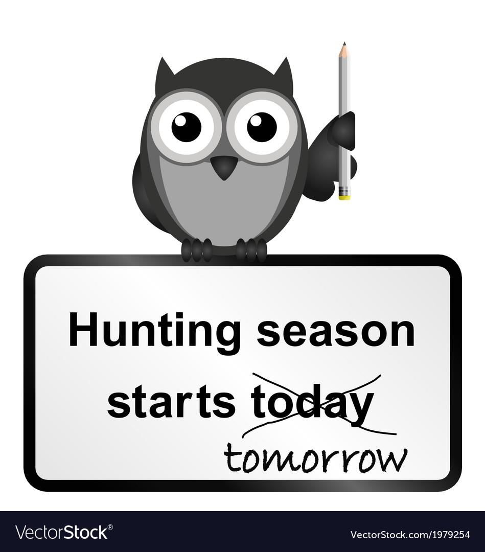 Hunting season vector | Price: 1 Credit (USD $1)