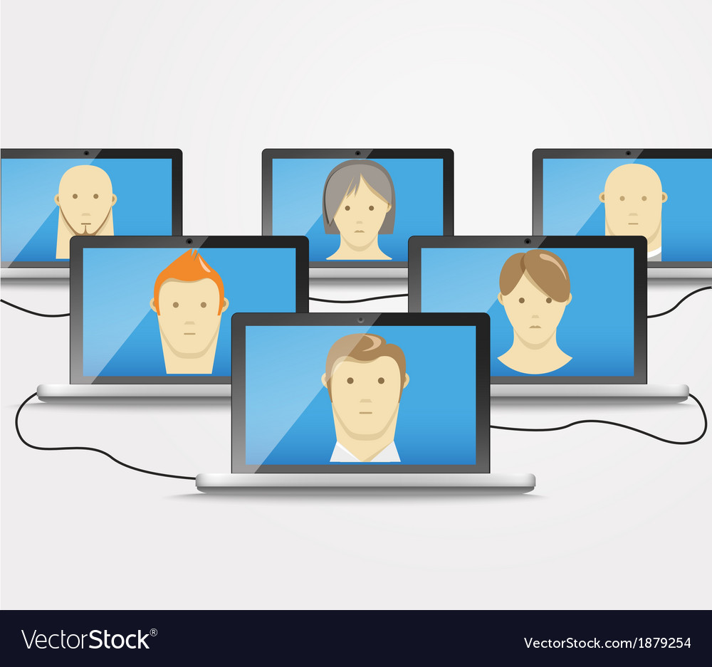 Modern computer network vector | Price: 1 Credit (USD $1)