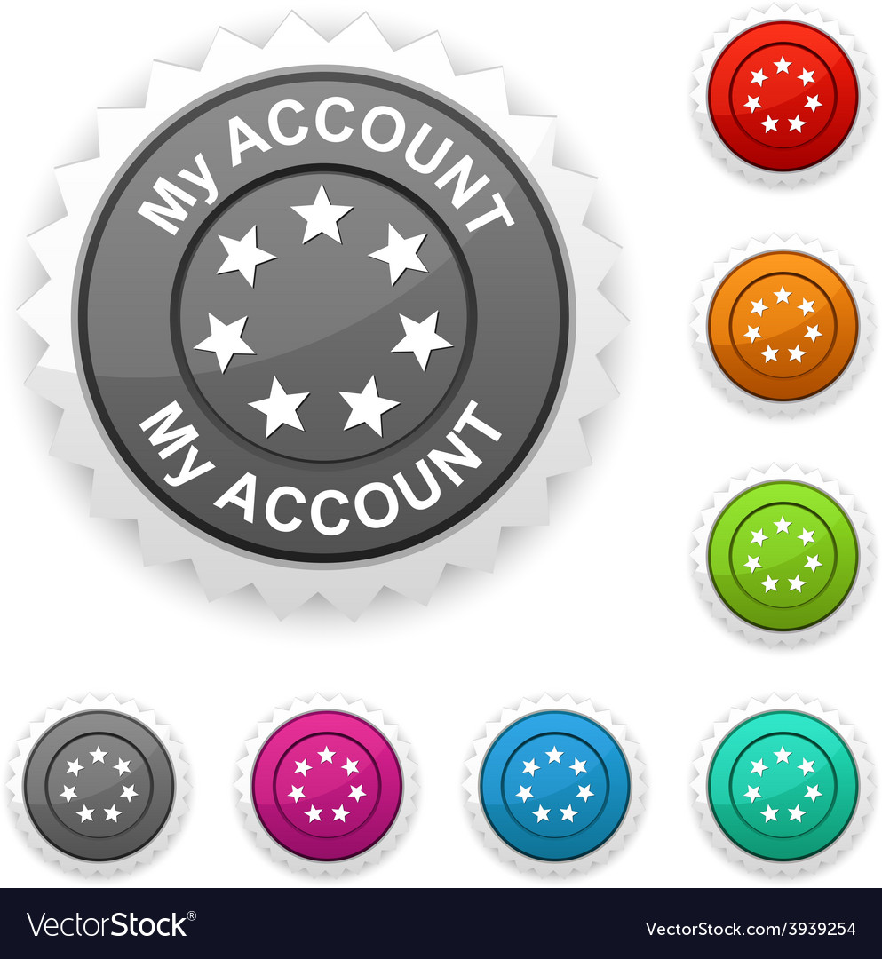 My account award vector | Price: 1 Credit (USD $1)