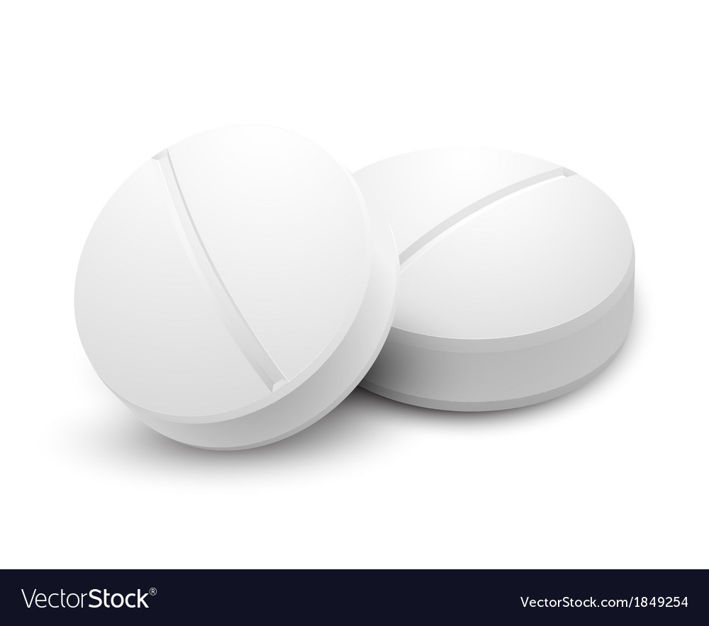 Two pills isolated on white vector | Price: 1 Credit (USD $1)