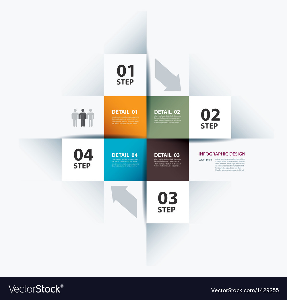 Business step paper data and numbers vector | Price: 1 Credit (USD $1)