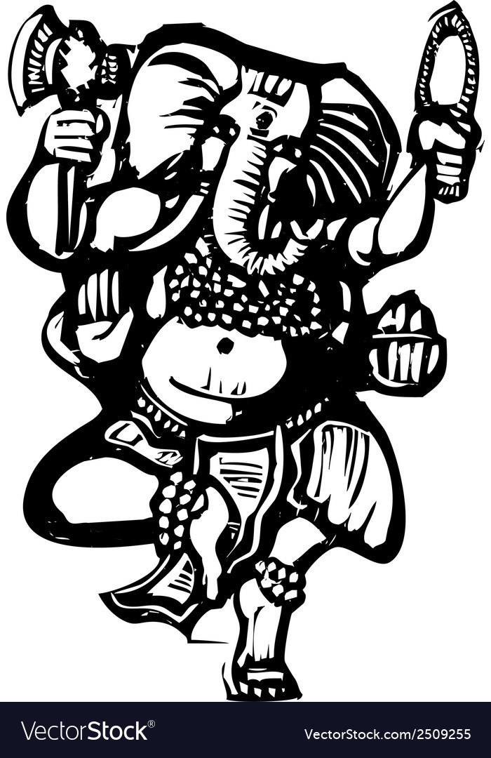 Dancing ganesha b vector | Price: 1 Credit (USD $1)