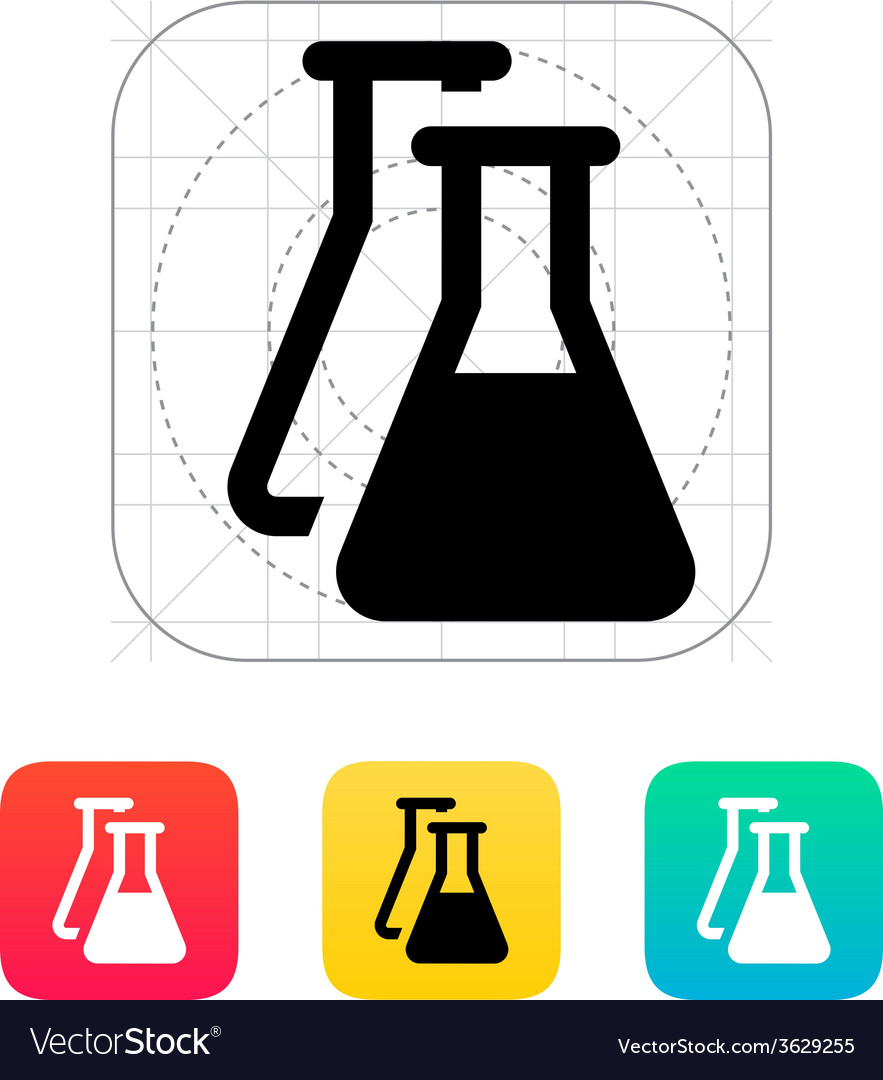 Flasks icon vector | Price: 1 Credit (USD $1)