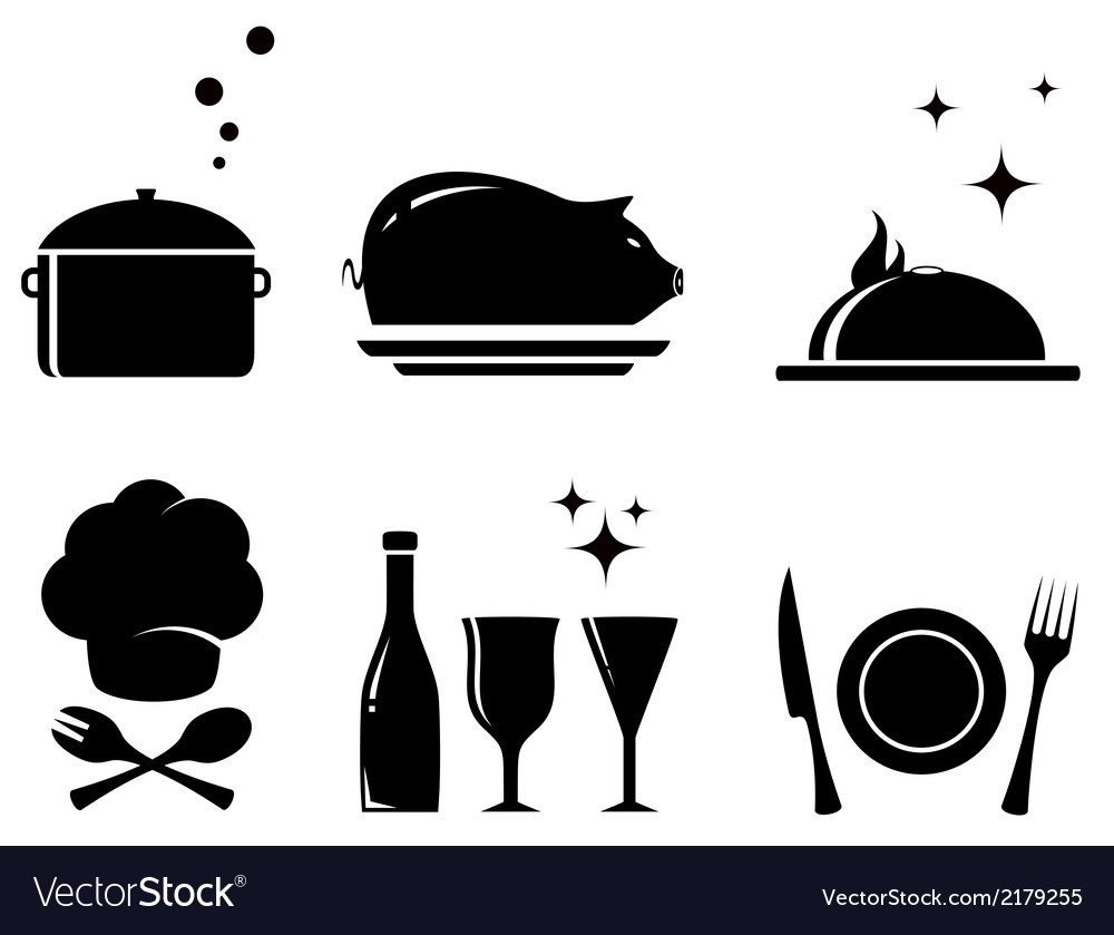 Isolated restaurant food objects vector | Price: 1 Credit (USD $1)