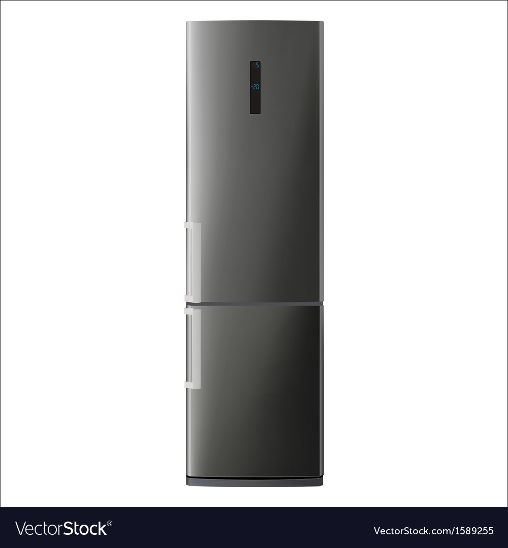 Metallic refrigerator vector | Price: 1 Credit (USD $1)