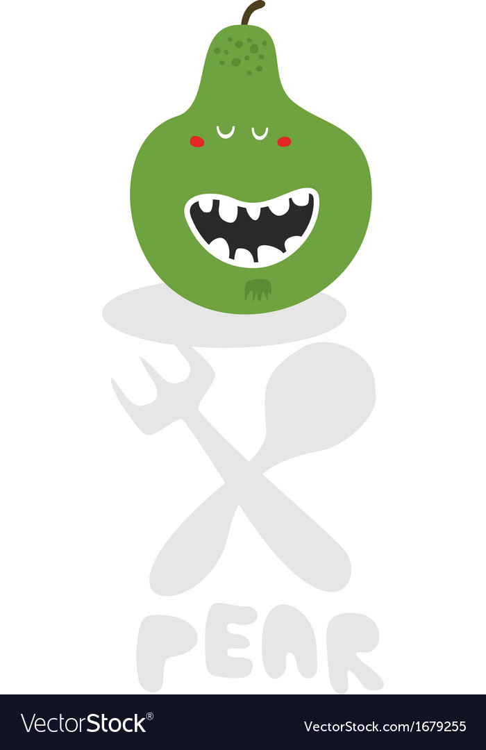 Pear monster vector | Price: 1 Credit (USD $1)