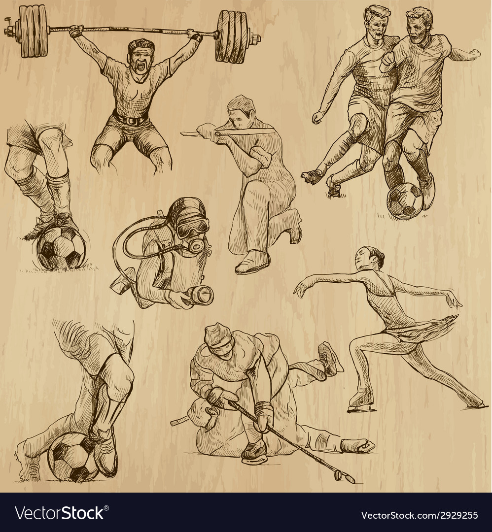Sport collection no10 - hand drawn vector | Price: 1 Credit (USD $1)