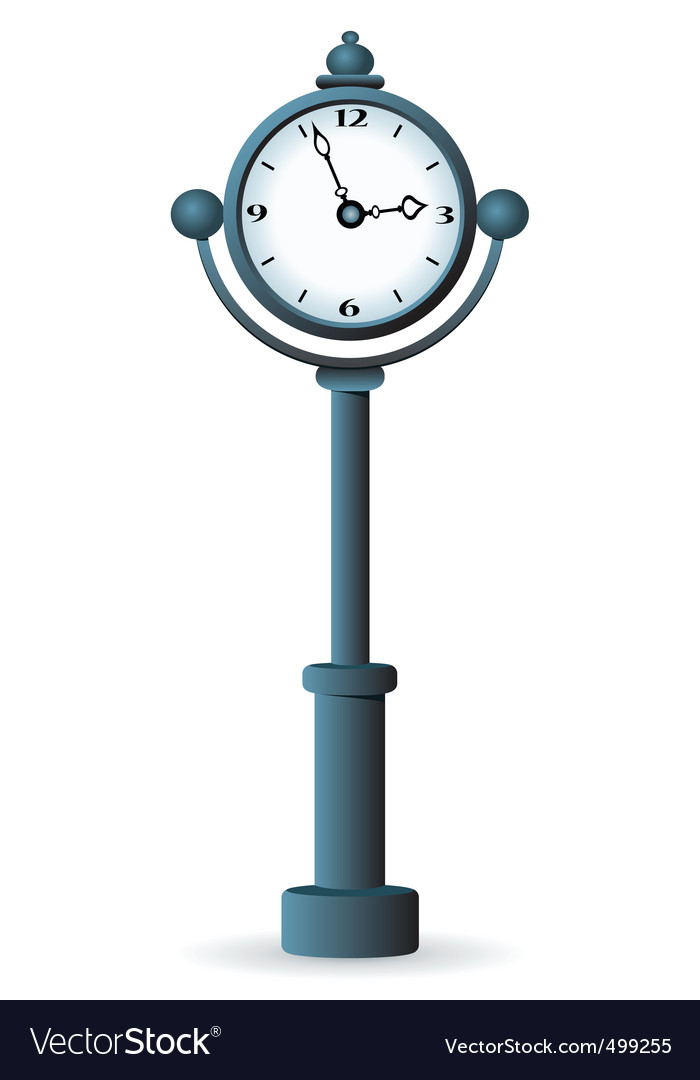 Street clock vector | Price: 1 Credit (USD $1)