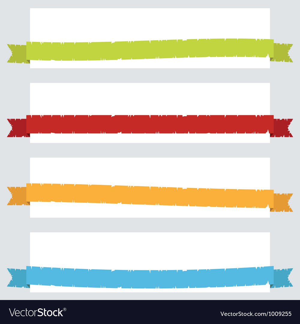 Torn ribbon banners vector | Price: 1 Credit (USD $1)