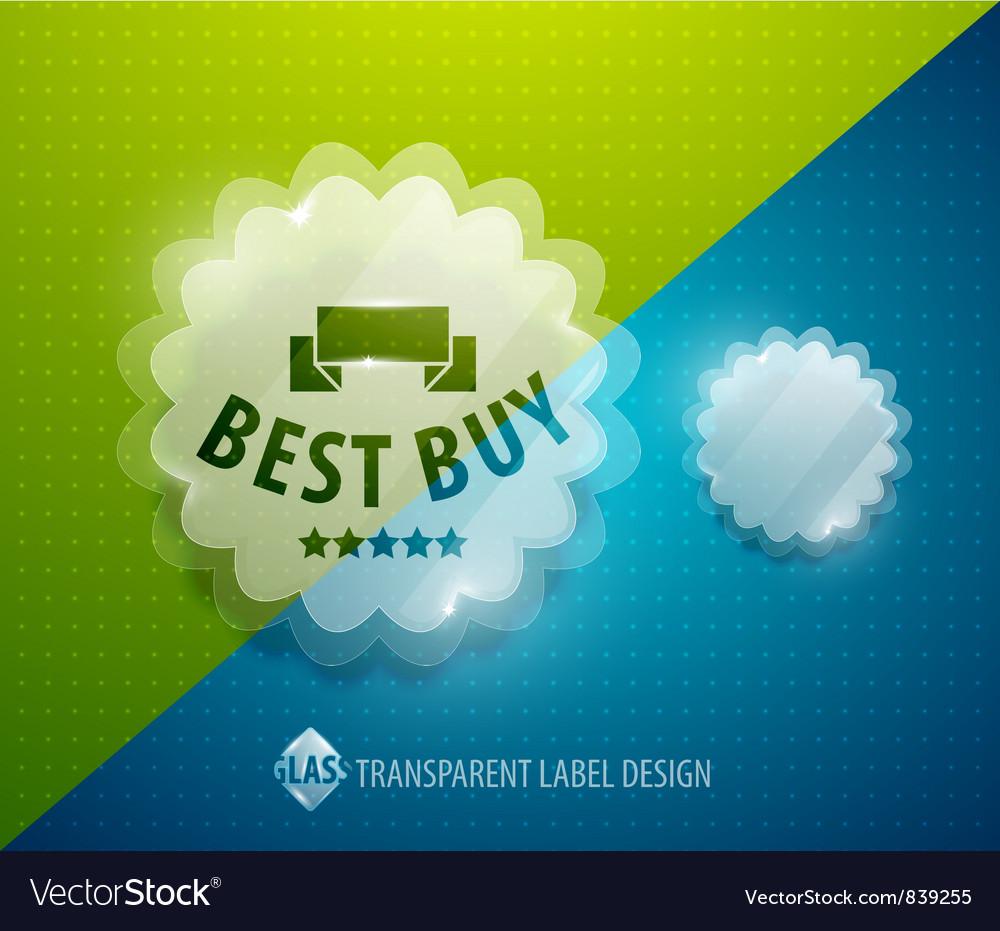 Transparent label vector | Price: 1 Credit (USD $1)