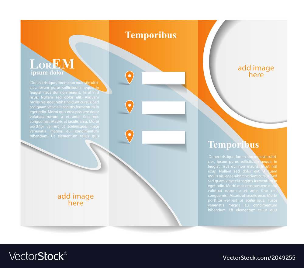 Tri-fold brochure template vector | Price: 1 Credit (USD $1)