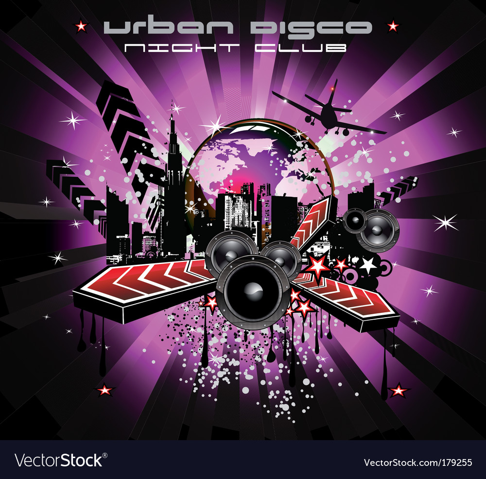 Urban discotheque vector | Price: 3 Credit (USD $3)